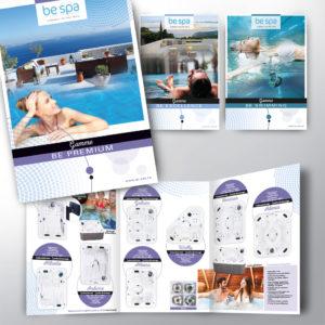 série de catalogue pour la marque be spa