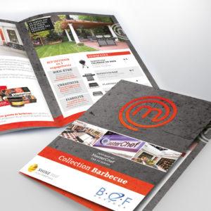 brochure pour masterchef sur la gamme barbecue