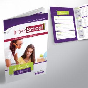 création de la brochure de suivi pour les scolaires