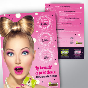 flyer promotionnel pour une campagne beauté pour les instituts bulle de soins