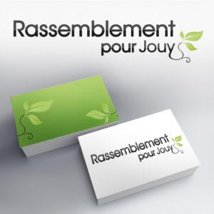 logotype pour les élections municipales 2014 avec intégration d'un motif floral dans le typographie