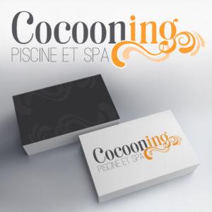 création du logo cocooning marque de piscines et spas