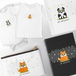 illustration vectorielle pour enfants animaux mignons