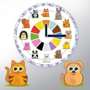 Horloge ludique avec illustration d