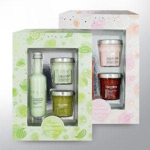 Packaging des coffrets cosmétiques relaxants et gourmands blancrème