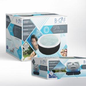 Packaging BCF Outdoor et création de la charte graphique