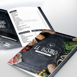 Carte de Menu, Restaurant Le Bistro